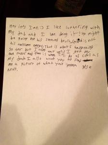 Ians letter