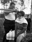 axe shaving